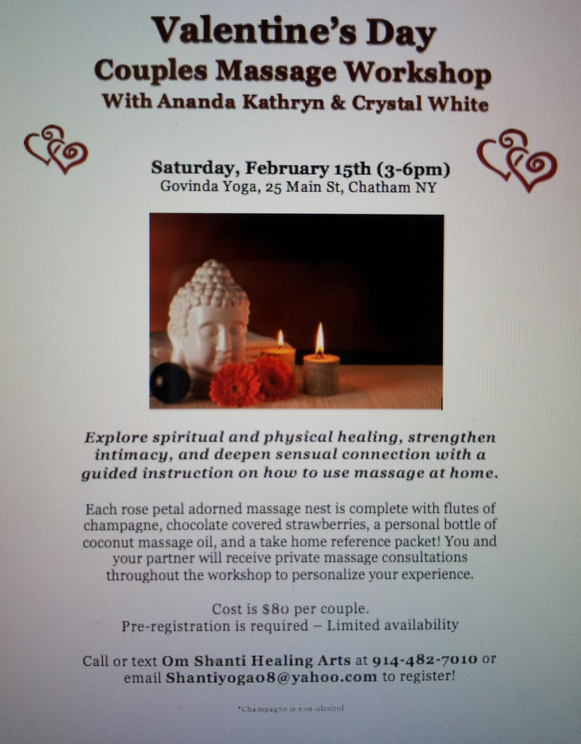 Om Shanti Yoga Healing Arts Llc Valentinesworkshopflyer